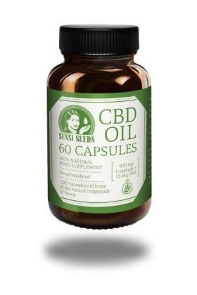 CAPSULES d'huile de CBD - 15mg - 60cap - Sensi Seeds