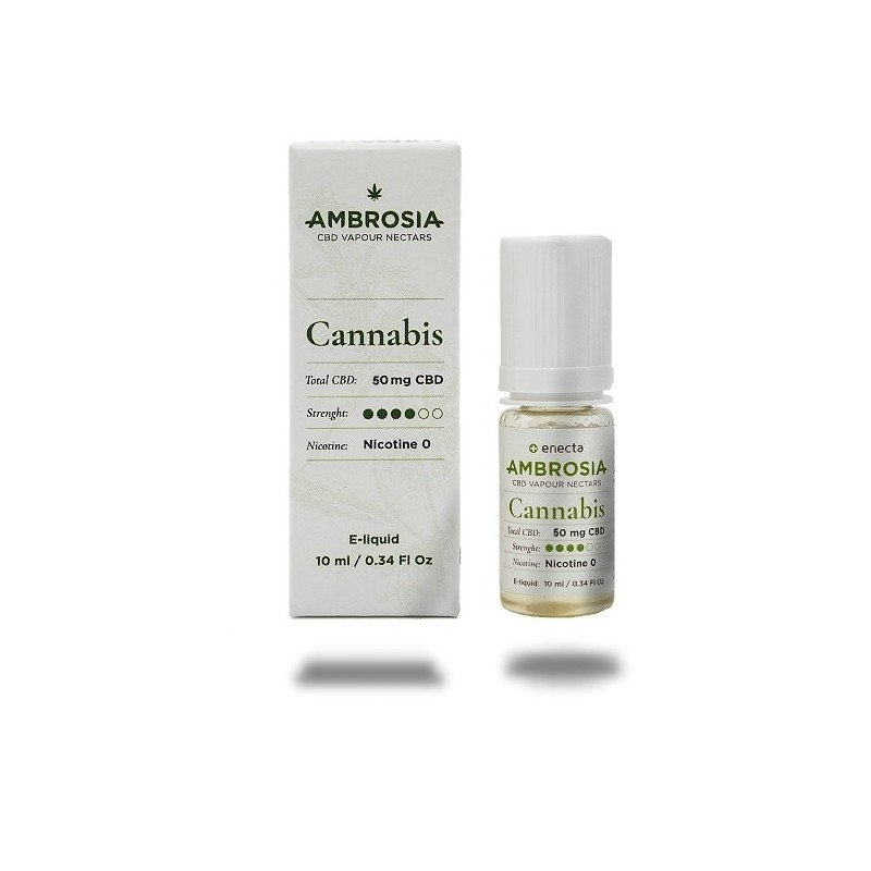 e-Liquide CBD Vape - Ambrosia saveur cannabis - 50mg - 10ml