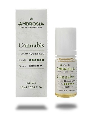 e-Liquide CBD 400mg  Vape - Ambrosia saveur cannabis - 10ml
