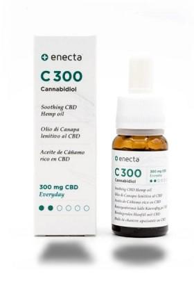Huile de chanvre apaisante CBD avec 300 mg de Cannabidiol (CBD) - 10ml Enecta