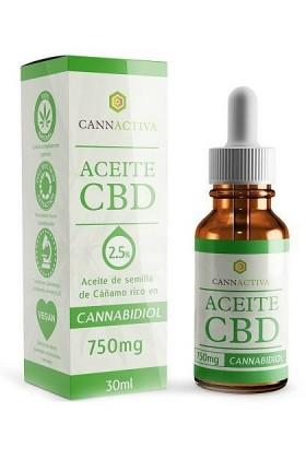 Huile de CBD 2,5% -30ml-Cannactiva