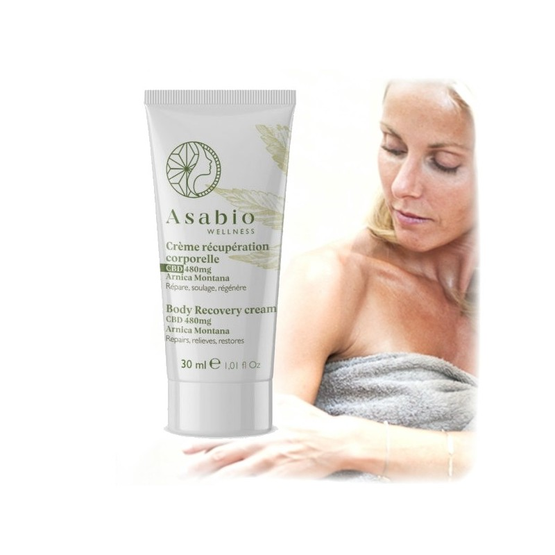 Crème récupération corporelle - Chanvre CBD et Terpènes ASABIO