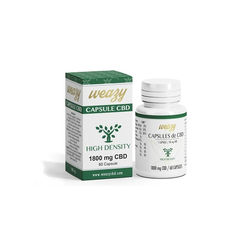 CAPSULES HIGHT DENSITY huile CBD 60 x 30mg - Weasy