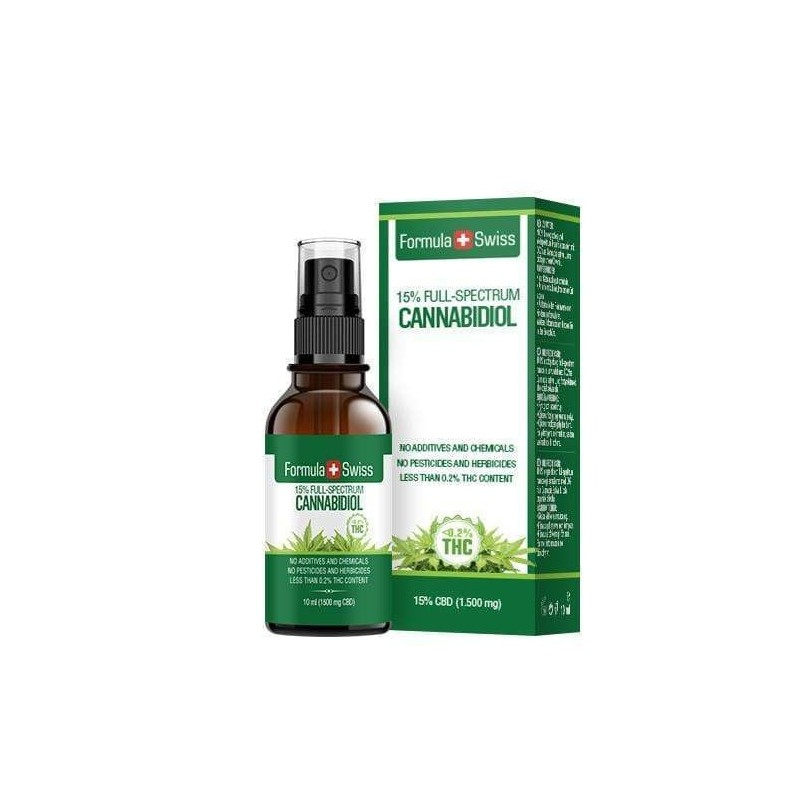Huile de CBD vaporisateur dans l'huile d'olive de 15% Formula Swiss