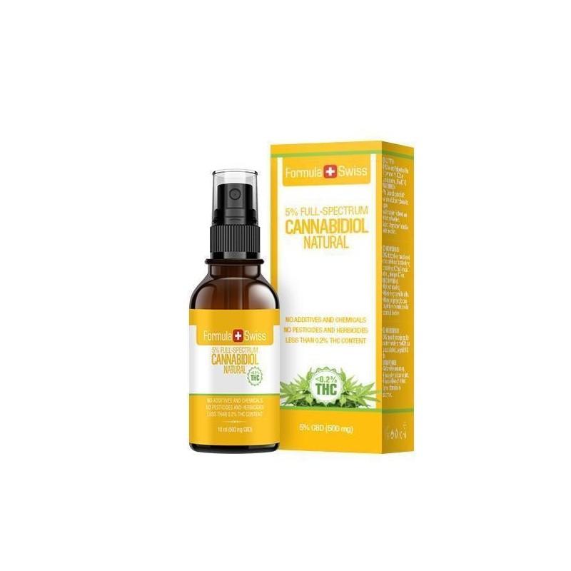 Huile de CBD de 3 à 25% dans l'huile de TCM - arôme naturelle Formula Swiss