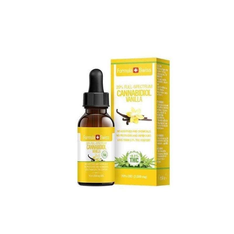 Huile de CBD de 3 à 25% dans l'huile de TCM - arôme vanille Formula Swiss