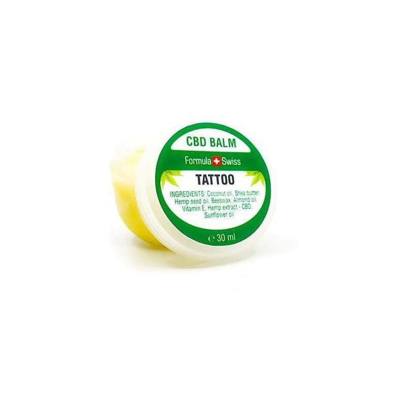 Baume CBD TATOUAGE réhausse les couleurs et hydrate - 30 ml - Formula Swiss