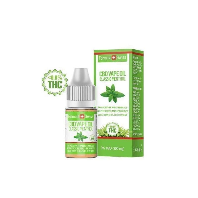 e-liquid CBD de 3% à vapoter menthol - Formula Swiss