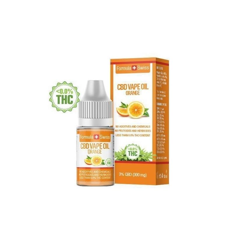 e-liquid CBD de 3% à vapoter goût Orange - Formula Swiss