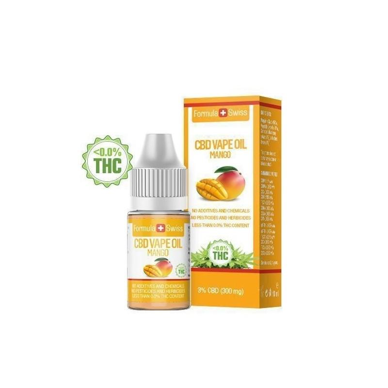 e-liquid CBD de 3% à vapoter goût mangue - Formula Swiss