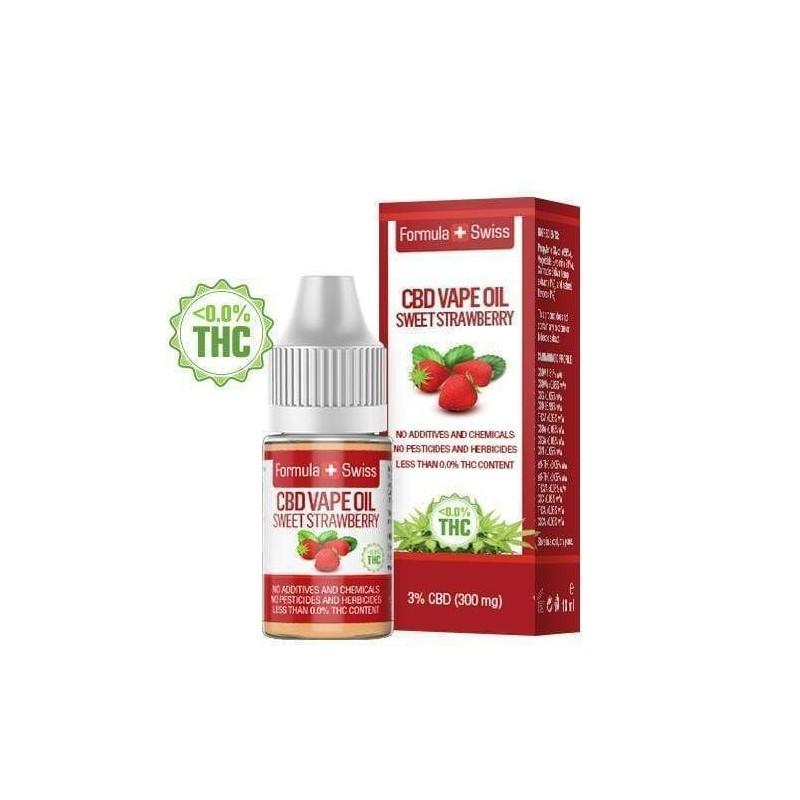 e-liquid CBD de 3% à vapoter goût fraise - Formula Swiss