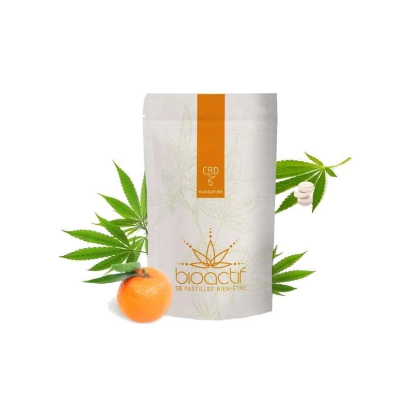 Pastilles Mandarine 1% CBD - 50 - BioActif