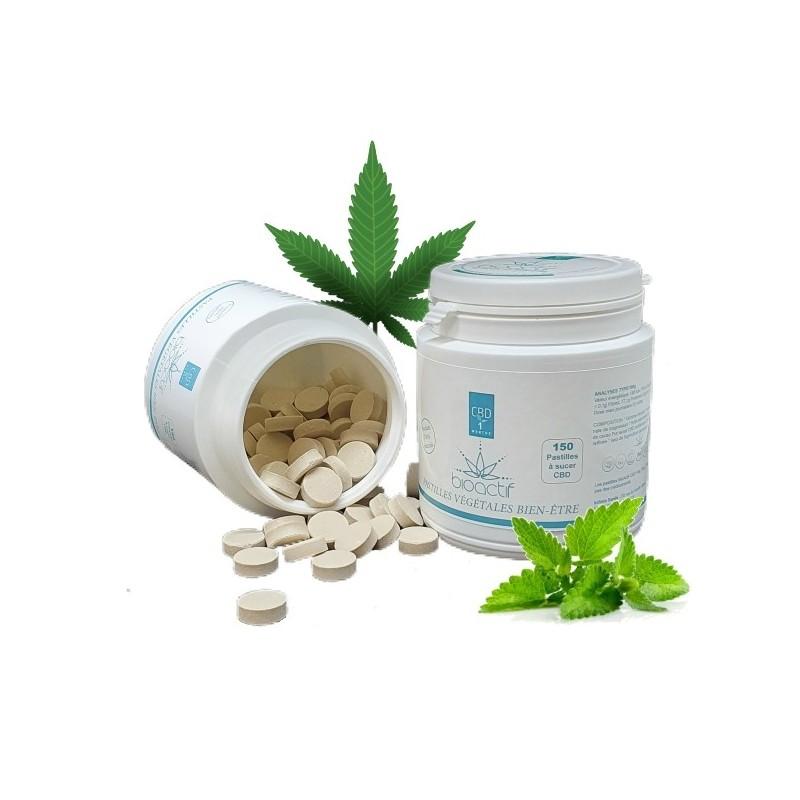 Pastilles 1% CBD Menthe -150 - BioActif