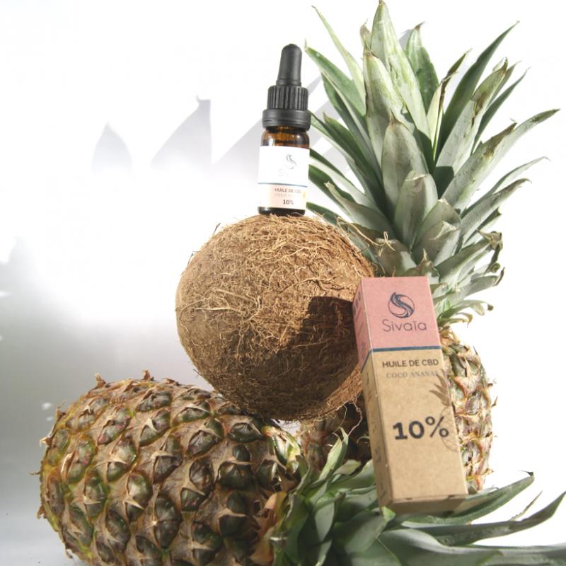 Huile de CBD 20% arôme naturel Coco Ananas - SIVAÏA