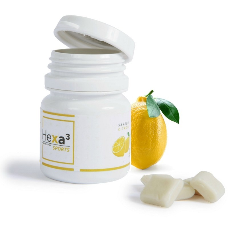 CBD 10mg Chewing-Gum Citron au cannabidiol - Hexacube hexa3