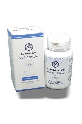 Capsules HUILE de CBD 4% - 60 caps - Alpha-Cat