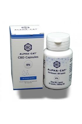 Capsules HUILE de CBD 6% - 60 caps - Alpha-Cat