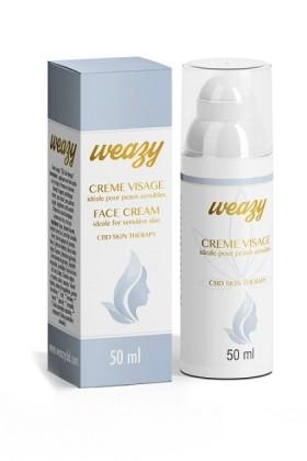 CRÈME VISAGE CBD Peaux sensibles - Weasy - 50ml