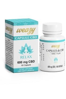 CAPSULES RELAX huile CBD 60 x 10mg - Weasy