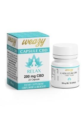 CAPSULES RELAX huile CBD 20 x 10mg - Weasy